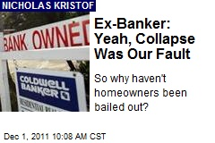 Ex-Banker: Yeah, Collapse Was Our Fault