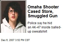 Omaha Shooter Cased Store, Smuggled Gun