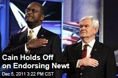 Herman Cain Not Endorsing Newt Gingrich Today in Republican Presidential Primary Race