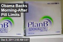 President Obama Backs Kathleen Sebelius' Morning-After Pill Move