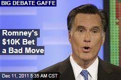 Mitt Romney's $10K Debate Bet a Bad Move, Say Critics