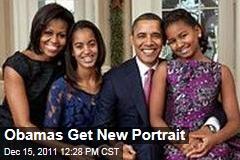 White House Releases New Family Portrait of Barack Michelle, Malia, and Sasha Obama