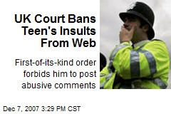 UK Court Bans Teen's Insults From Web