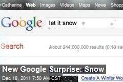 New Google Surprise: Snow