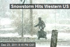 Snowstorm Hits Western US