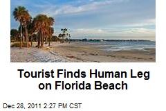 Tourist Finds Human Leg on Florida Beach