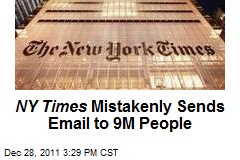 NY Times Mistakenly Sends Email to 9M People