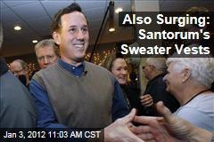 Rick Santorum's Sweater Vests Also Surging