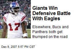 Giants Win Defensive Battle With Eagles