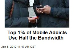 Top 1% of Mobile Addicts Use Half the Bandwidth