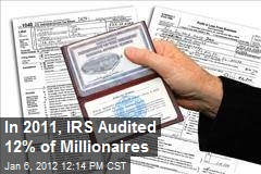 In 2011, IRS Audited 12% of Millionaires
