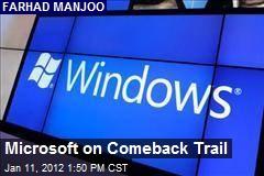 Microsoft on Comeback Trail