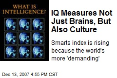 IQ Measures Not Just Brains, But Also Culture