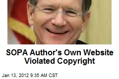 SOPA Author's Own Website Violated Copyright