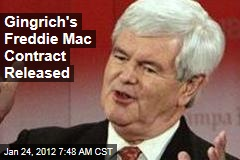Newt Gingrich's Freddie Mac Contract Released
