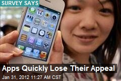 Apps Quickly Lose Their Appeal