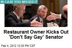 Restaurant Owner Kicks Out 'Don't Say Gay' Senator