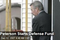 Peterson Starts Defense Fund