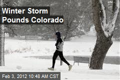 Winter Storm Pounds Colorado