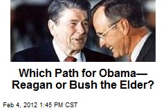 Which Path for Obama— Reagan or Bush the Elder?