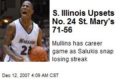 S. Illinois Upsets No. 24 St. Mary's 71-56