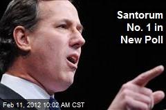 Santorum No. 1 in New Poll