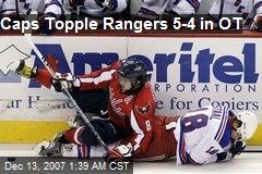 Caps Topple Rangers 5-4 in OT