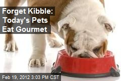 Forget Kibble: Today's Pets Eat Gourmet