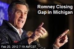 Romney Closing Gap in Michigan