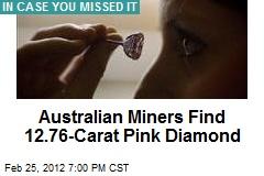 Australian Miners Find 12.76-Carat Pink Diamond