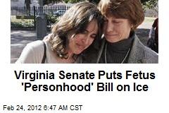 Virginia Senate Puts Fetus 'Personhood' Bill on Ice