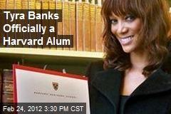 Tyra Banks Officially a Harvard Alum