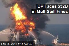 BP Faces $52B in Gulf Spill Fines
