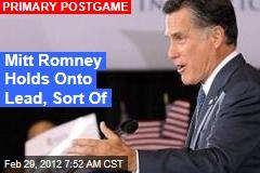 Mitt Romney Holds Onto Lead, Sort Of