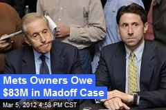 Mets Owners Owe $83M in Madoff Case