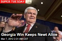 Georgia Win Keeps Newt Alive