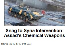 Snag to Syria Intervention: Assad's Chemical Weapons