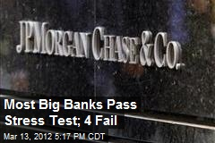 Most Big Banks Pass Stress Test