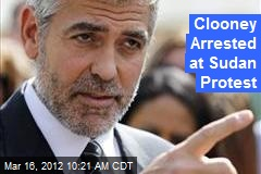Clooney Arrested at Sudan Protest