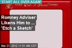 Romney Adviser Likens Him to ... 'Etch a Sketch'