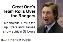 Great One's Team Rolls Over the Rangers