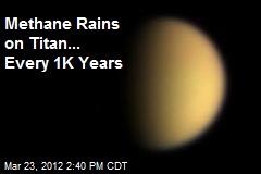 Methane Rains on Titan... Every 1K Years