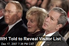 WH Told to Reveal Visitor List