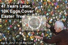 47 Years Later, 10K Eggs Cover Easter Tree