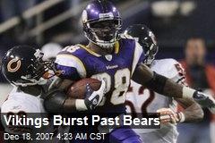 Vikings Burst Past Bears