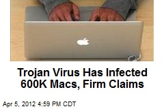 Trojan Virus Has Infected 600K Macs, Firm Claims