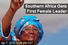 Southern Africa Gets First Female Leader
