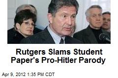 Rutgers Slams Student Paper's Pro-Hitler Parody