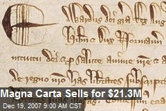 Magna Carta Sells for $21.3M