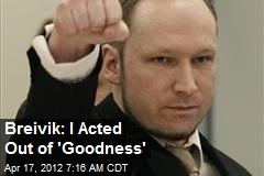 Breivik: I Acted Out of 'Goodness'
